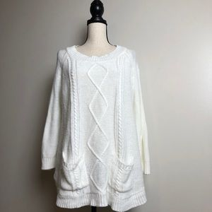 Tops - Cable Knit Sweater in Large